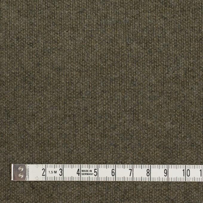 コットン&ウール×無地(カーキグリーン)×裏毛ニット イメージ4