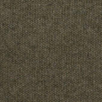 コットン&ウール×無地(カーキグリーン)×裏毛ニット