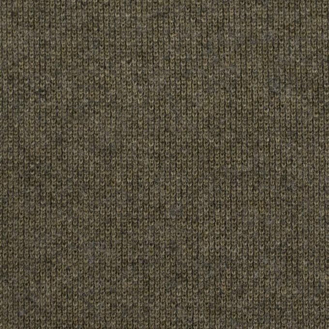 コットン&ウール×無地(カーキグリーン)×裏毛ニット イメージ1