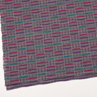 ウール&ナイロン混×幾何学模様(グレー)×天竺ジャガードニット_全3色 サムネイル2