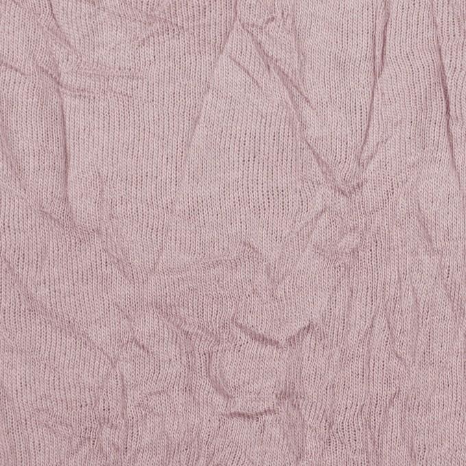 コットン&ポリエステル×無地(グレイッシュピンク)×天竺ニットワッシャー_全3色 イメージ1