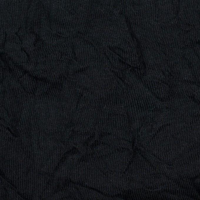 コットン&ポリエステル×無地(ブラック)×天竺ニットワッシャー_全3色 イメージ1