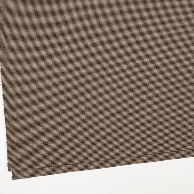 ポリエステル&レーヨン混×チェック(モカ)×千鳥格子ストレッチ イメージ2
