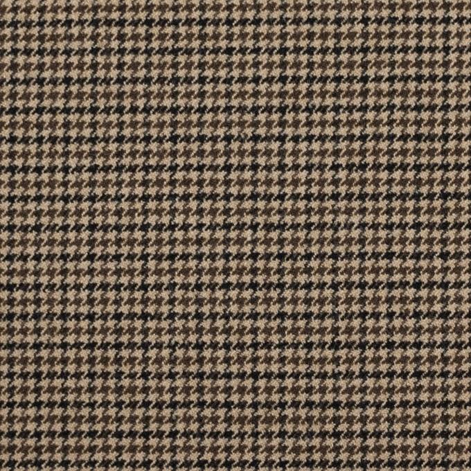 ポリエステル&レーヨン混×チェック(モカ)×千鳥格子ストレッチ イメージ1