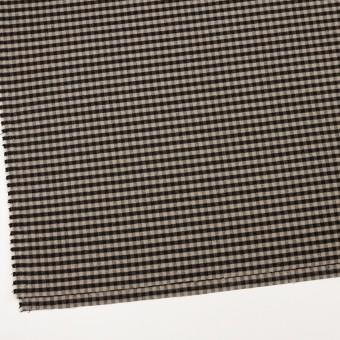 ポリエステル&レーヨン混×チェック(キナリ&ダークブラウン)×サージストレッチ サムネイル2