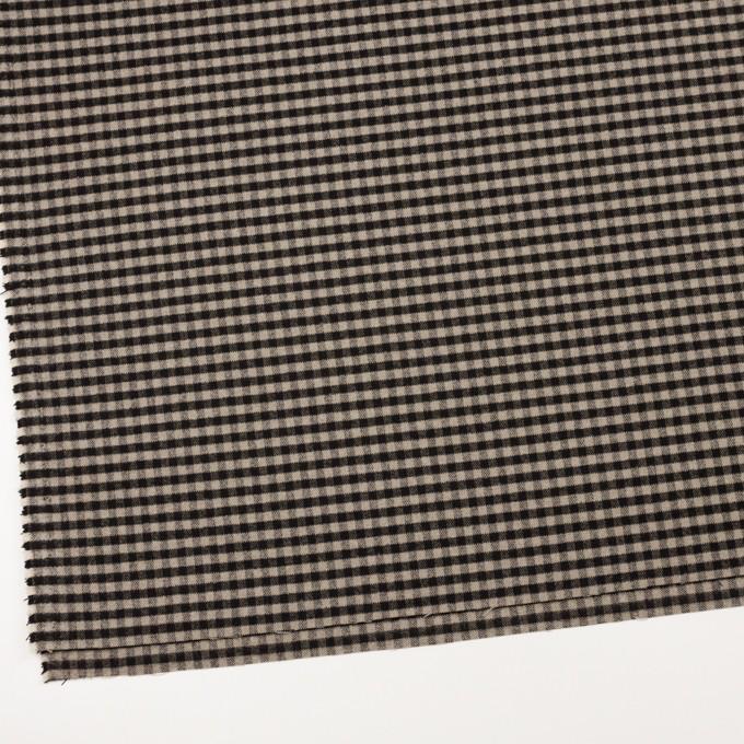 ポリエステル&レーヨン混×チェック(キナリ&ダークブラウン)×サージストレッチ イメージ2