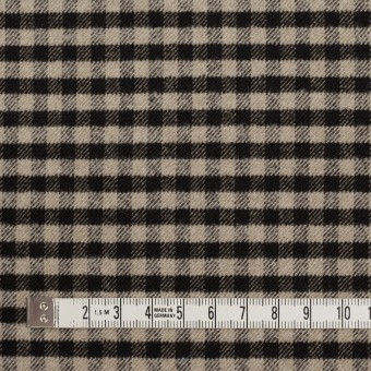 ポリエステル&レーヨン混×チェック(キナリ&ダークブラウン)×サージストレッチ サムネイル4