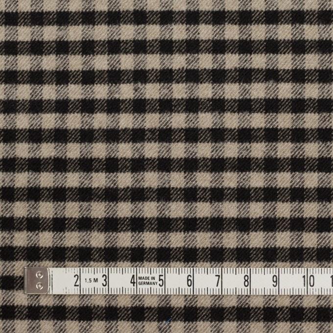 ポリエステル&レーヨン混×チェック(キナリ&ダークブラウン)×サージストレッチ イメージ4