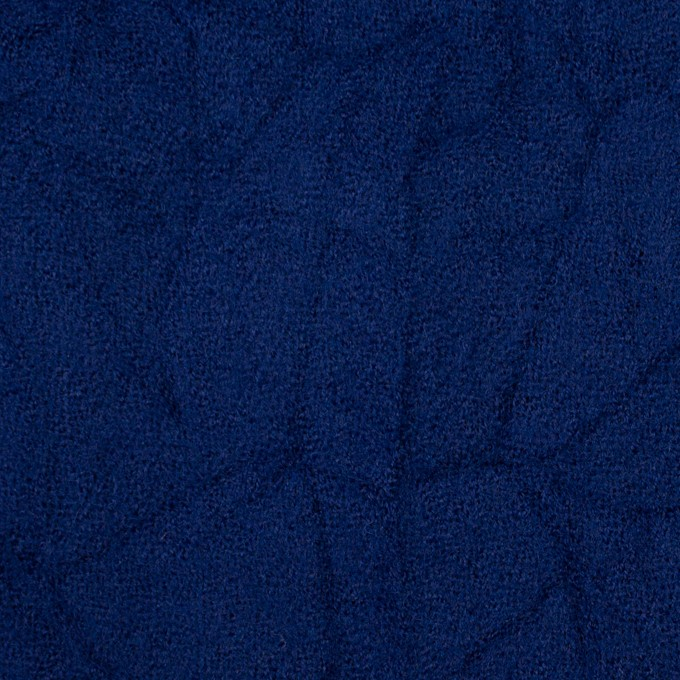 ウール×無地(マリンブルー)×ガーゼワッシャー_全4色 イメージ1