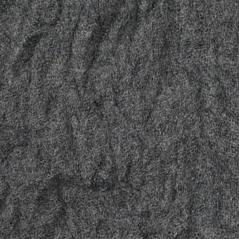 ウール×無地(チャコールグレー)×ガーゼワッシャー_全4色