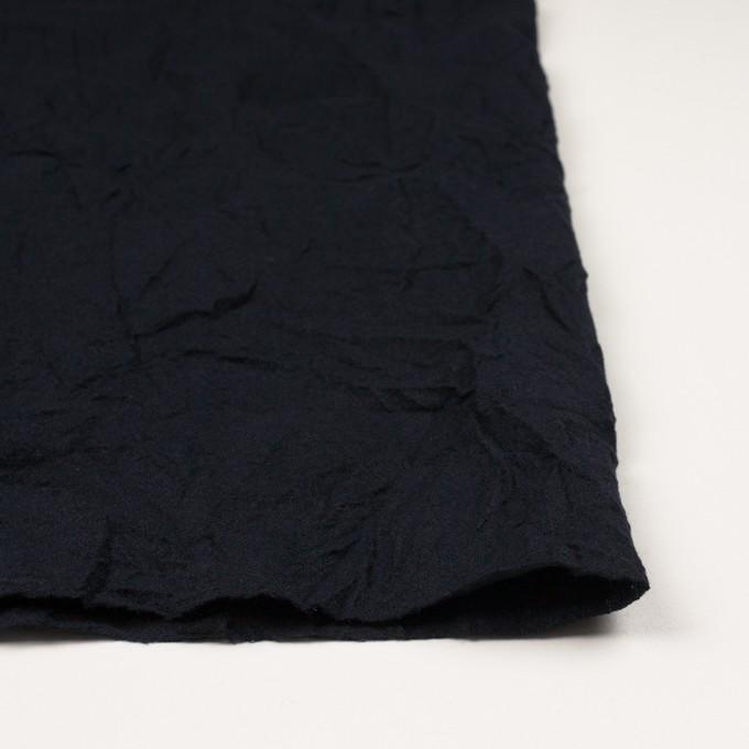 ウール×無地(ブラック)×ガーゼワッシャー_全4色 イメージ3