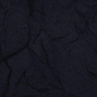 ウール×無地(ブラック)×ガーゼワッシャー_全4色