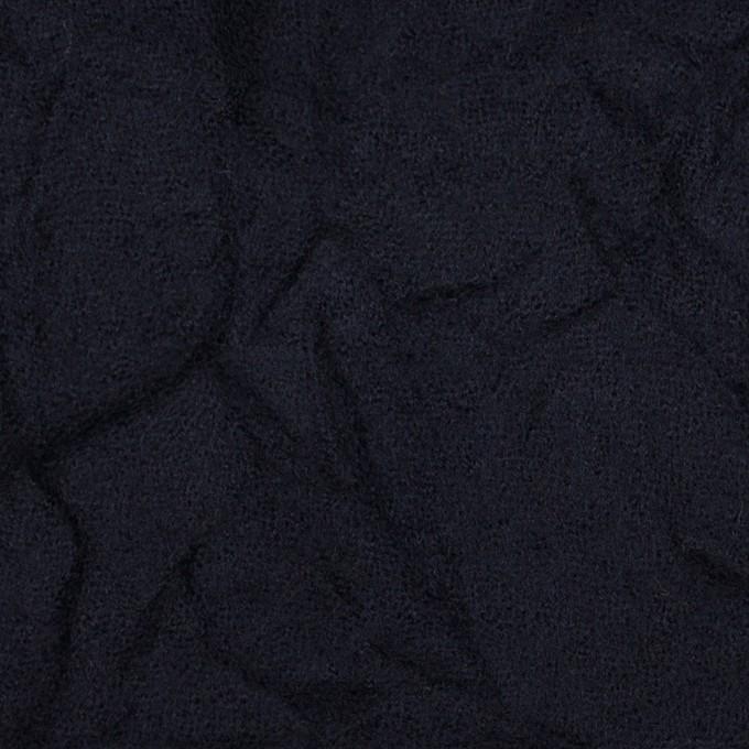 ウール×無地(ブラック)×ガーゼワッシャー_全4色 イメージ1