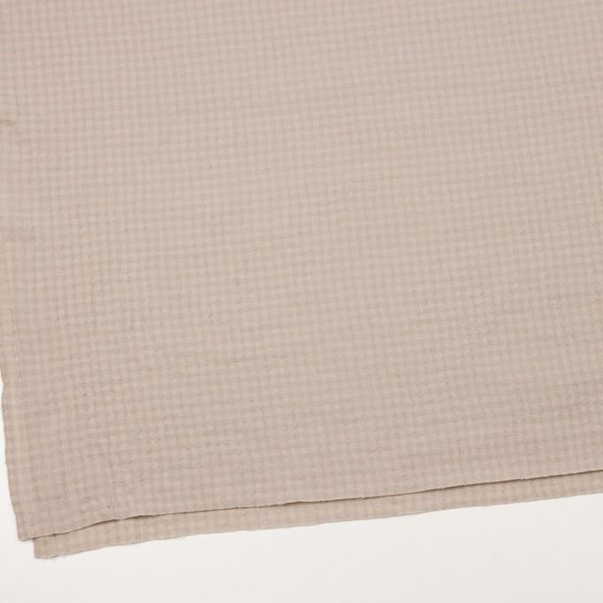 ウール×チェック(ベージュ&ライトグレー)×ガーゼ イメージ2