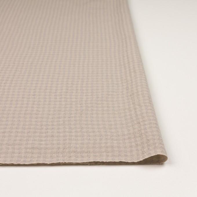 ウール×チェック(ベージュ&ライトグレー)×ガーゼ イメージ3