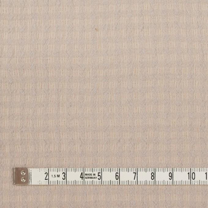 ウール×チェック(ベージュ&ライトグレー)×ガーゼ イメージ4