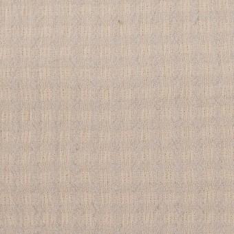 ウール×チェック(ベージュ&ライトグレー)×ガーゼ