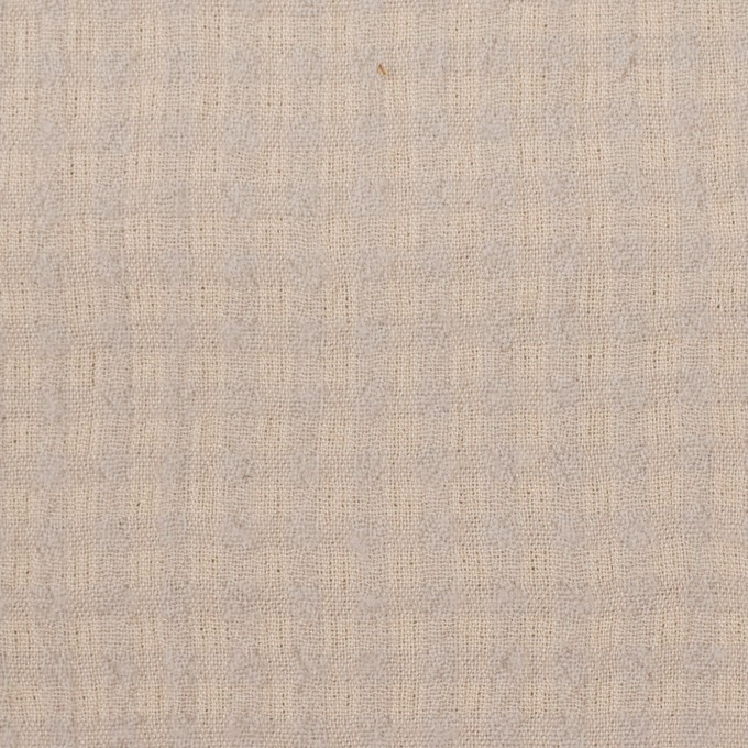 ウール×チェック(ベージュ&ライトグレー)×ガーゼ イメージ1