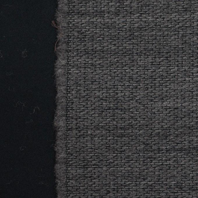 ウール&ポリエステル×ストライプ(チャコールグレー&ブラック)×ジャガード イメージ1