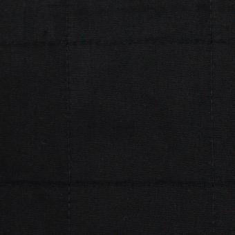 コットン&ウール×無地(ブラック)×ブロード&ビエラ