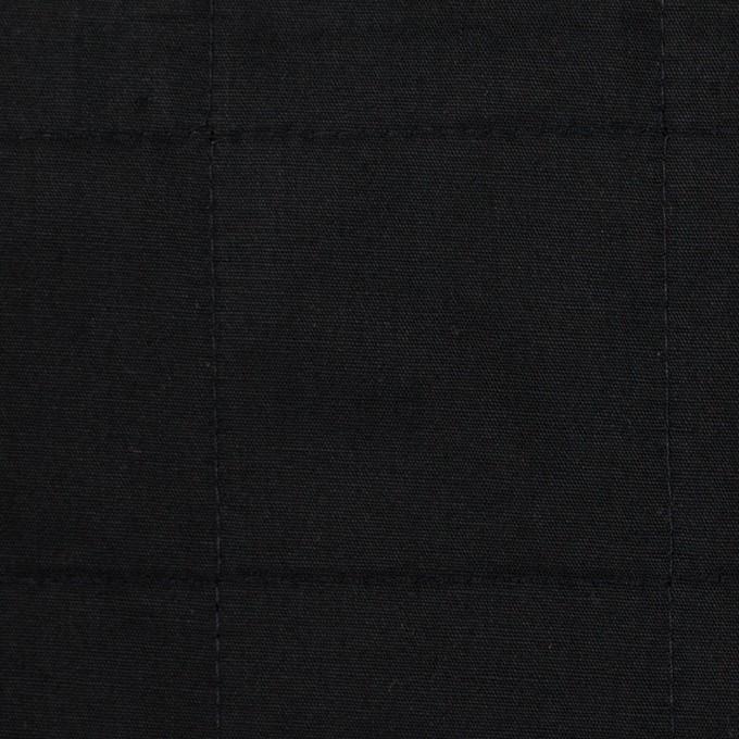 コットン&ウール×無地(ブラック)×ブロード&ビエラ イメージ1