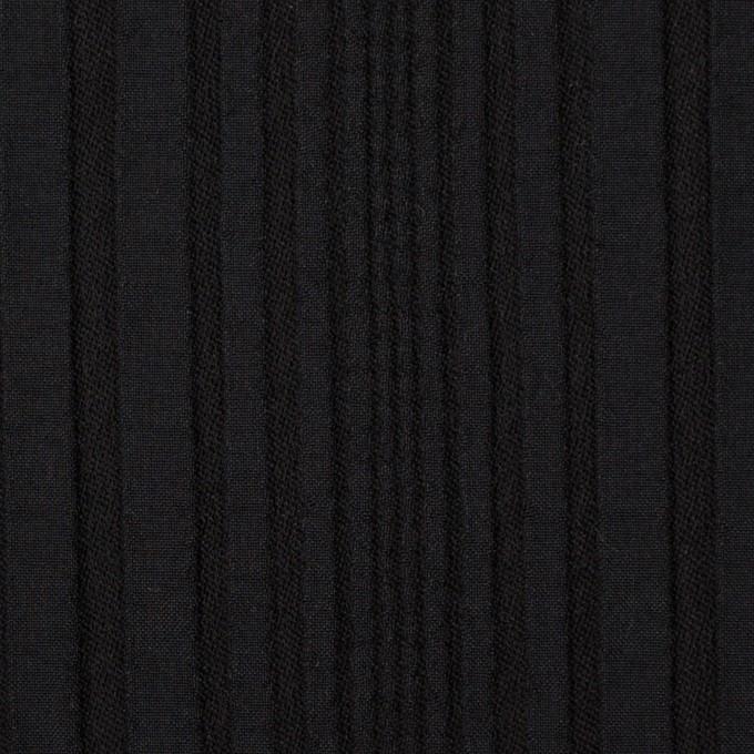 アセテート&ウール混×無地(ブラック)×タテタック イメージ1