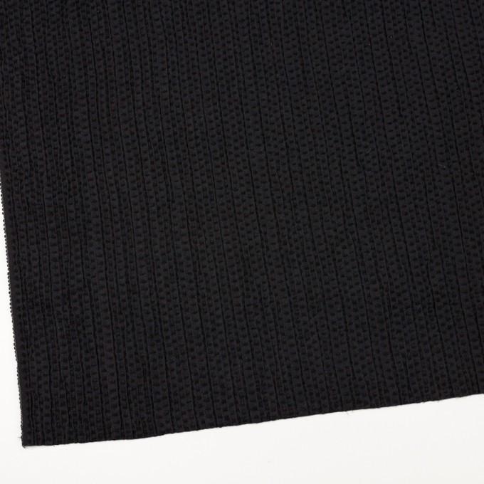ウール&ポリエステル×ドット(ブラック)×刺し子 イメージ2