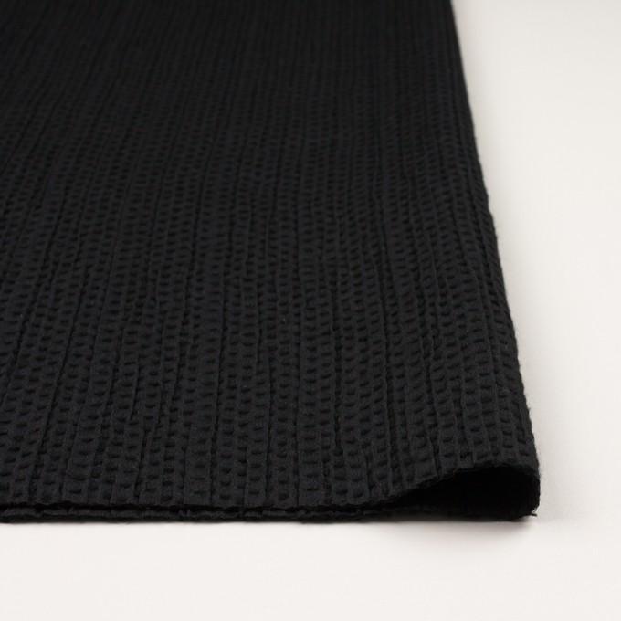 ウール&ポリエステル×ドット(ブラック)×刺し子 イメージ3