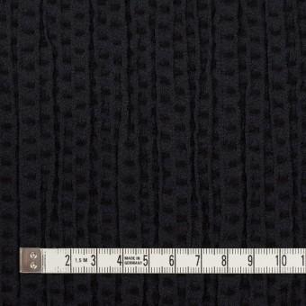 ウール&ポリエステル×ドット(ブラック)×刺し子 サムネイル4