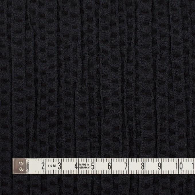 ウール&ポリエステル×ドット(ブラック)×刺し子 イメージ4