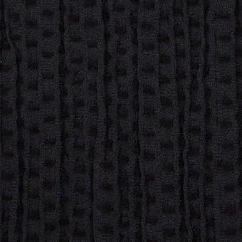ウール&ポリエステル×ドット(ブラック)×刺し子