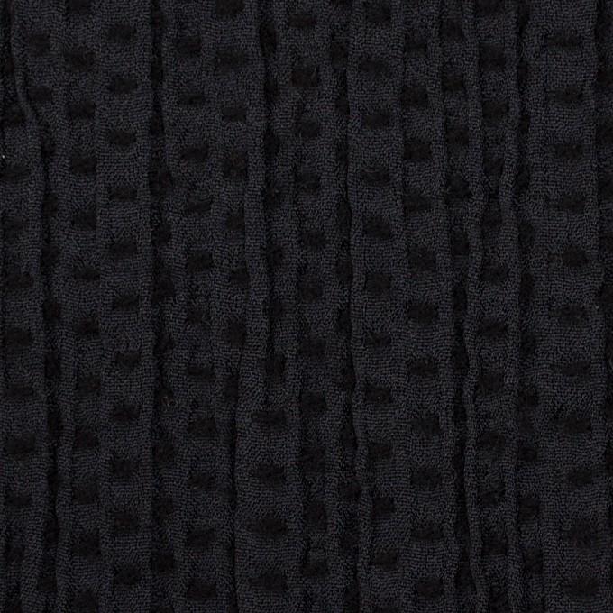 ウール&ポリエステル×ドット(ブラック)×刺し子 イメージ1
