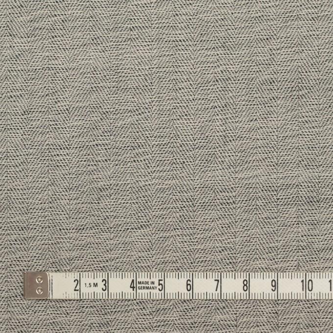 ウール×ミックス(キナリ&チャコール)×ヘリンボーン イメージ4