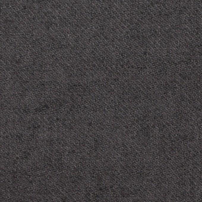 リネン×無地(チャコールグレー)×サージワッシャー イメージ1