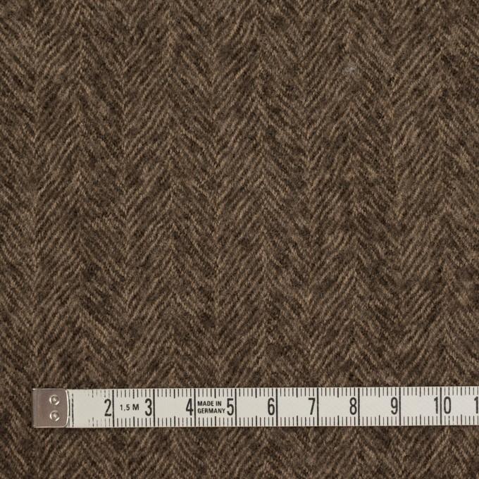 ウール×無地(モカブラウン)×ヘリンボーン・ガーゼ イメージ4