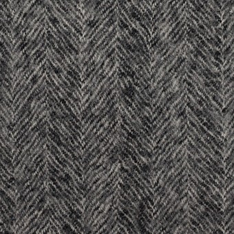 ウール×無地(チャコールグレー)×ヘリンボーン・ガーゼ