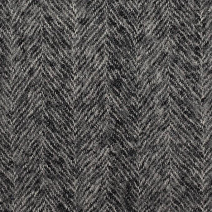 ウール×無地(チャコールグレー)×ヘリンボーン・ガーゼ イメージ1