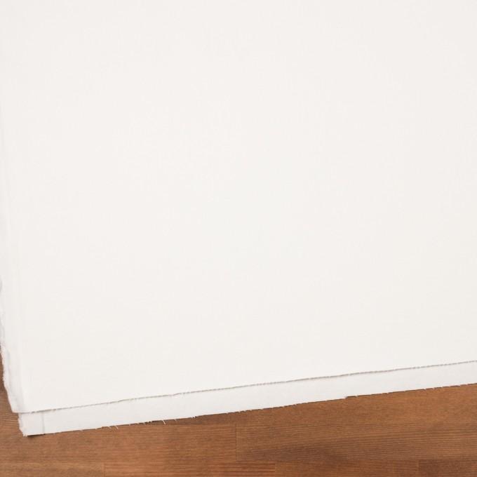 コットン&ポリウレタン×無地(オフホワイト)×カツラギ・ストレッチ イメージ2