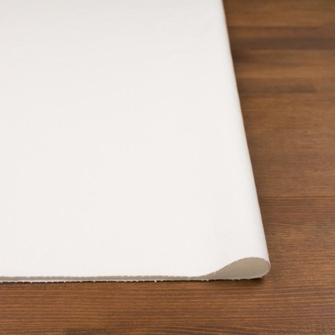 コットン&ポリウレタン×無地(オフホワイト)×カツラギ・ストレッチ イメージ3