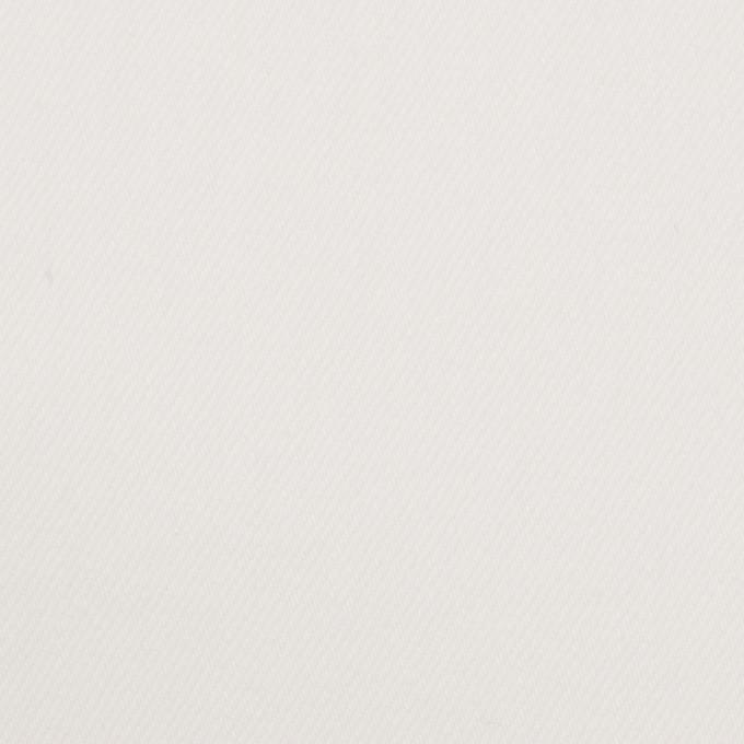 コットン&ポリウレタン×無地(オフホワイト)×カツラギ・ストレッチ イメージ1