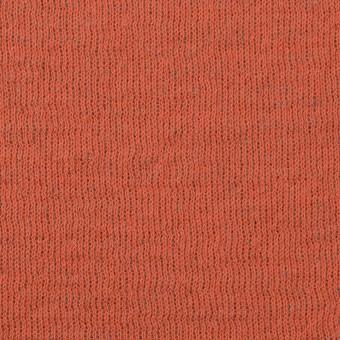 ウール&コットン×無地(オレンジ&グリーンフォグ)×リブ&天竺ニット