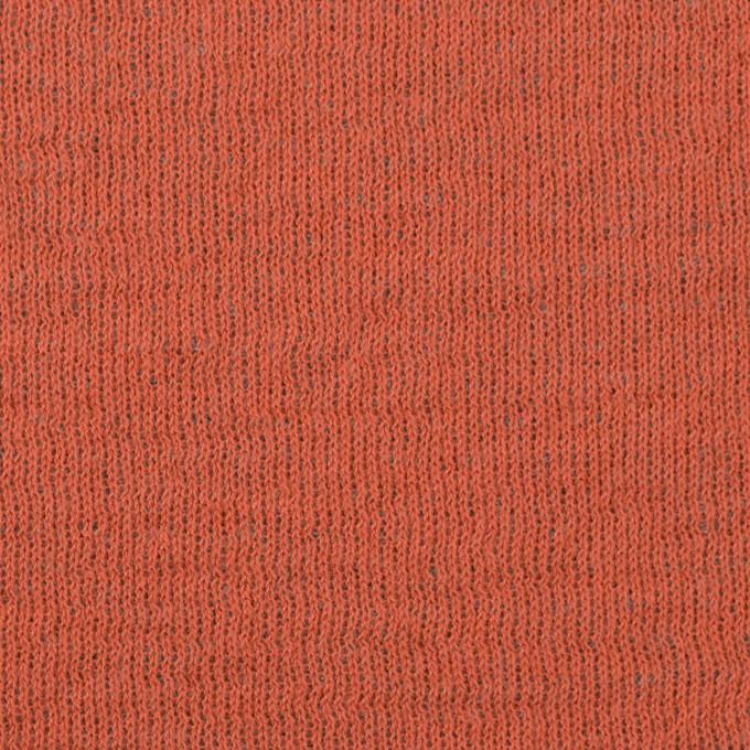 ウール&コットン×無地(オレンジ&グリーンフォグ)×リブ&天竺ニット イメージ1