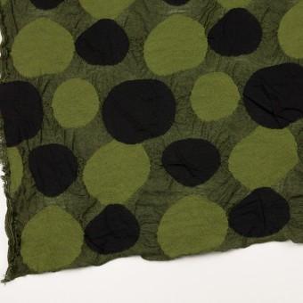 ウール&アクリル混×サークル(モスグリーン)×ジャガードニット_全3色 サムネイル2