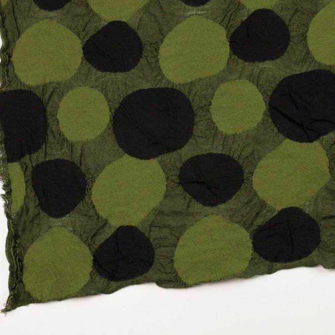 ウール&アクリル混×サークル(モスグリーン)×ジャガードニット_全3色 イメージ2
