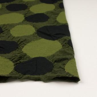 ウール&アクリル混×サークル(モスグリーン)×ジャガードニット_全3色 サムネイル3