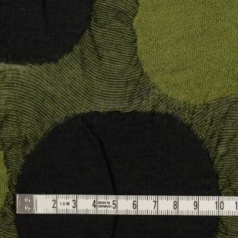 ウール&アクリル混×サークル(モスグリーン)×ジャガードニット_全3色 サムネイル4