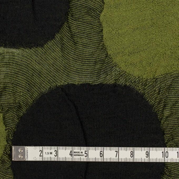 ウール&アクリル混×サークル(モスグリーン)×ジャガードニット_全3色 イメージ4