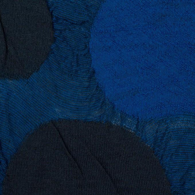 ウール&アクリル混×サークル(マリンブルー)×ジャガードニット_全3色 イメージ4
