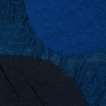 ウール&アクリル混×サークル(マリンブルー)×ジャガードニット_全3色 サムネイル1