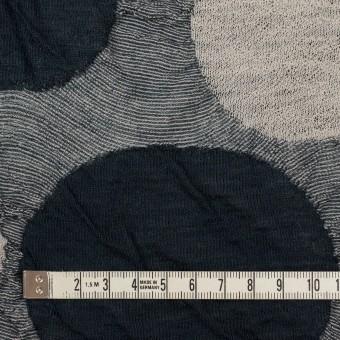 ウール&アクリル混×サークル(グレー)×ジャガードニット_全3色 サムネイル4